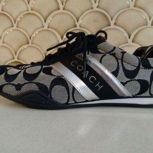 Coach Jayme Black Tennis Shoes Size 8 J